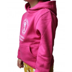 Sudadera infantil escudo UBU rosa