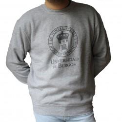 Sudadera básica unisex escudo gris UBU