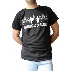 Camiseta técnica tres logos negra