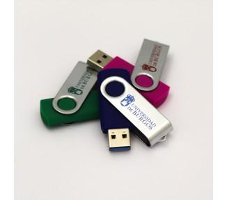 USB 32GB 3.0. con clip metálico