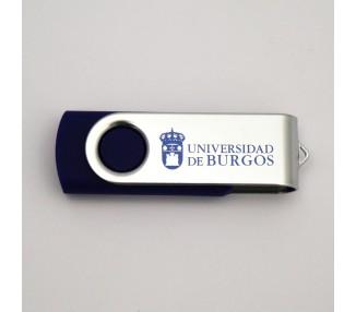 USB 32GB 3.0. con clip metálico azul