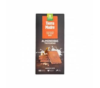 Tableta de chocolate con leche y almendras BIO