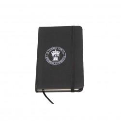 Libreta negra con goma escudo