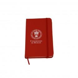Libreta roja con goma escudo