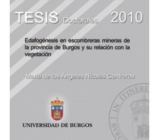 Edafogénesis en escombreras mineras de la provincia de Burgos y su relación con la vegetación