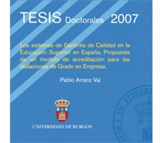 Los sistemas de garantía de calidad en la educación superior en España. Propuesta de un modelo de acreditación