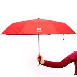 Paraguas rojo plegable