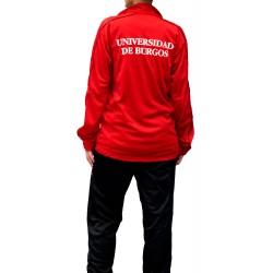 Chándal UBU unisex rojo y negro trasera