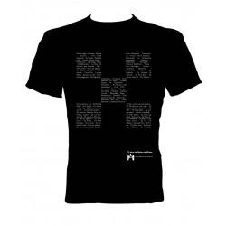 Camiseta Tablero de Música 15 aniversario negra trasera