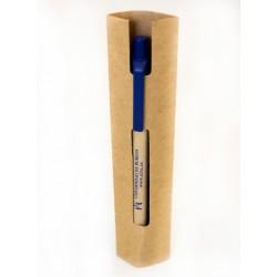 Bolígrafo ECO azul en funda de cartón