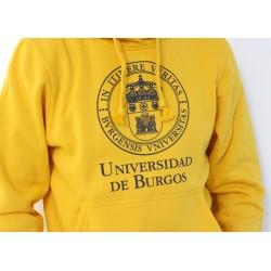 Sudadera escudo UBU amarilla detalle
