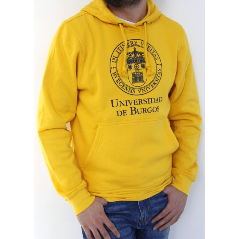 Sudadera escudo UBU amarilla