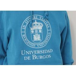 Sudadera escudo UBU turquesa detalle