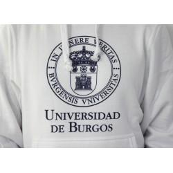 Sudadera escudo UBU blanca detalle