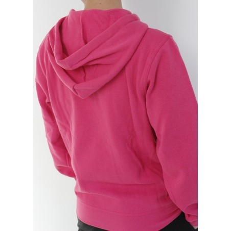 Sudadera escudo UBU rosa trasera
