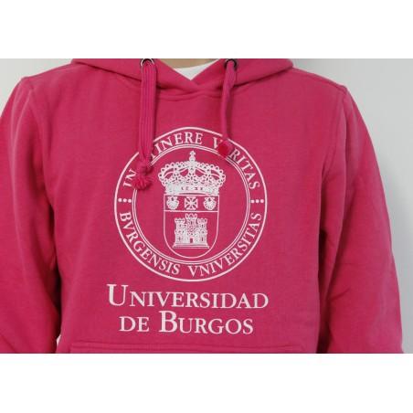 Sudadera escudo UBU rosa detalle