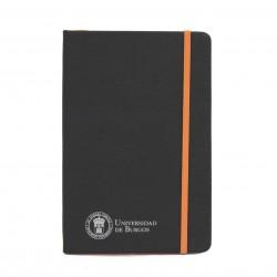 Libreta negra polipiel A5 naranja