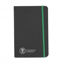 Libreta negra polipiel A5 verde