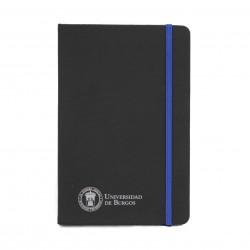Libreta negra polipiel A5 azul